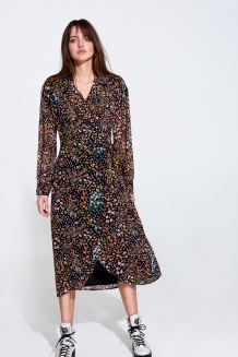 Jurk ALIX The Label Lightning Flower Print Chiffon Dress