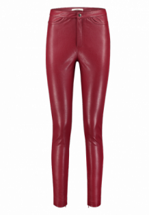 Broek AAIKO Pooja Rood | Trousers Leatherlook Red Raspberry