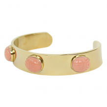 JULI DANS JEWELS ARMBAND 3 SCARABEE PEACH BANGLE GOUD
