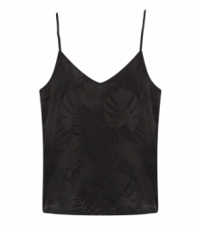 Top ALIX The Label Jacquard Top Black Zwart