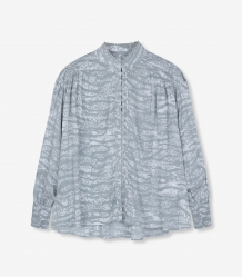 Blouse ALIX The Label Animal Oversized Blouse Zebra Pebble Grey