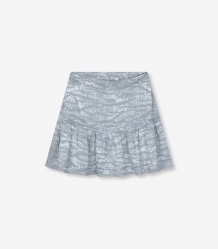 Rok ALIX The Label Animal Short Skirt Zebra Pebble Grey