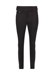 Broek AAIKO Amsterdam SARLA Zwart Wit | Black Trousers White Stripe