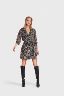 Jurk ALIX The Label Animal Chiffon Dress Zebra
