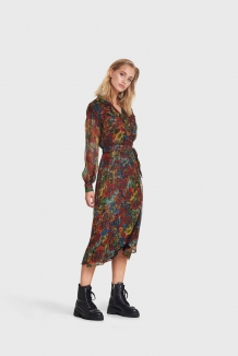 Jurk ALIX The Label Flower Multicolour Long Lurex Dress