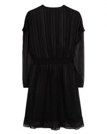 Jurk ALIX The Label Striped Jacquard Dress Black Zwart