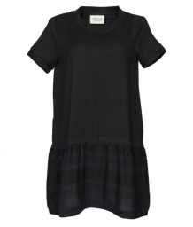 Jurk Cecilie Copenhagen Dress 2 O-neck Short Sleeve Black Black