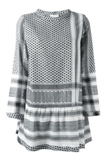 Jurk Cecilie Copenhagen Dress 2 O-neck Long Sleeve White Black