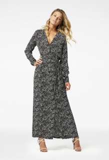 Jurk Freebird Icons Vikas Maxi Dress Long Sleeve Black White