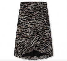 Rok ALIX The Label Animal Chiffon Skirt Zebra