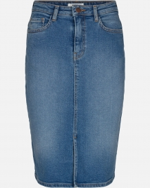 Rok MOSS Copenhagen Rikka High Waist Denim Skirt Blue Wash
