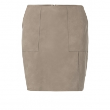 Rok YAYA Faux Leather Mini Skirt Brown Clay