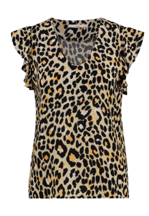 Top AAIKO Amsterdam Deno Animal Print Natural
