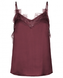 Top MSCH Lity Lace Singlet Vineyard Wine