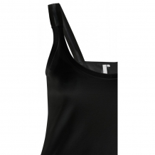 Top YAYA Women Basic Singlet Black Zwart
